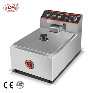 Chuangyu CE Certificate 430 Stainless Steel 8L Electric Potato Deep Fryers For Home Use