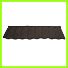 roof tile curved heat insulation porcelain stone coated metal