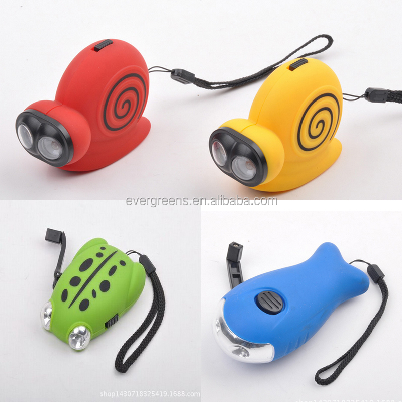 2led animal Hand Pressing Flashlight