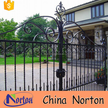 House used wrought iron modern sliding main gate designs NT--WIA035
