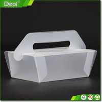 Packaging Cookie Pvc Plastic Box With Handle