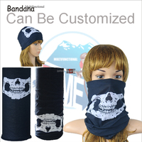 Custom Multfunctional Seamless Skull Pattern Bandana Market Prices Head Wrap