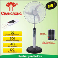 rechargeable standing battery operated 18inch emergency fan with light