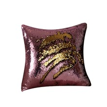 Cocohome WLHK0304 with character DIY sequins throw pillow for decorative home
