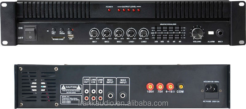 Mic usb amplifier,HY2500M 500W USB SD MP3 Public Address Amplifier,500 Watts PA Amplifier,70V,100V