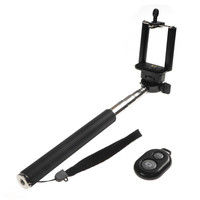 Extendable Selfie stick Telescopic Handheld Selfie For Mobile Phone With Android with Bluetooth Remote Control