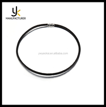 Wholesale Cheap Stainless Steel Magnetic Clasp Unisex PU Leather Necklace Cord