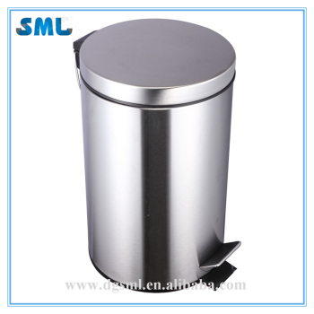 stainless steel 5L pedal trash bin eco waste bins mini trash can