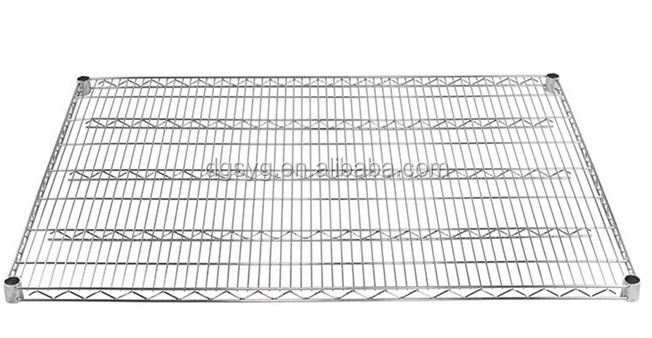 "36""d x 60""w Wire Shelving with Five Shelves"