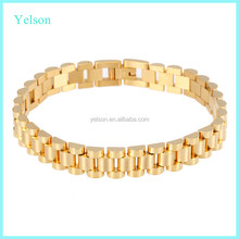Wholesale mens bracelet jewelry gold 316l stainless steel bracelet