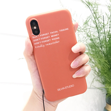 Creative Words Orange Design 6 7 8 Plus IMD Mobile Phone Back Cover for iPhone X TPU Case