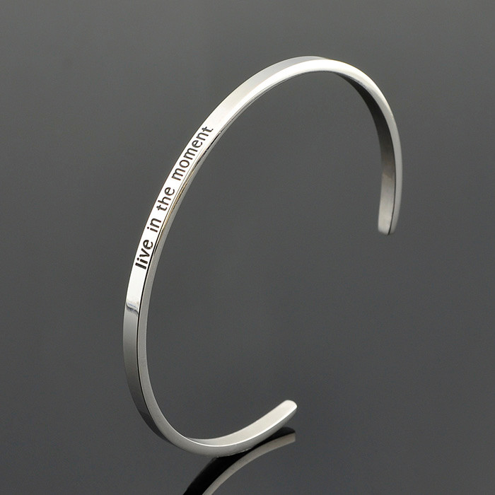 Wholesale Costume Jewelry 2016 Custom Engraved Silver 925 Bracelet