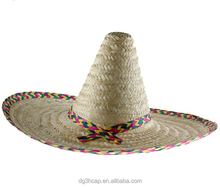 Fashion sombrero mexican straw hat factory cheap