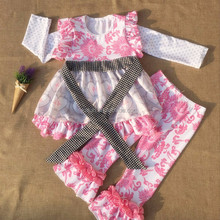 kL-OF-034 wholesale price girls giggle moon remake baby clothing bulk kids clothes children's boutique clothing