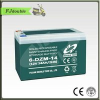 6-DZM-14 battery Seal Maintenance Free storage Electric Bike Battery 6-DZM-14(12V14AH)