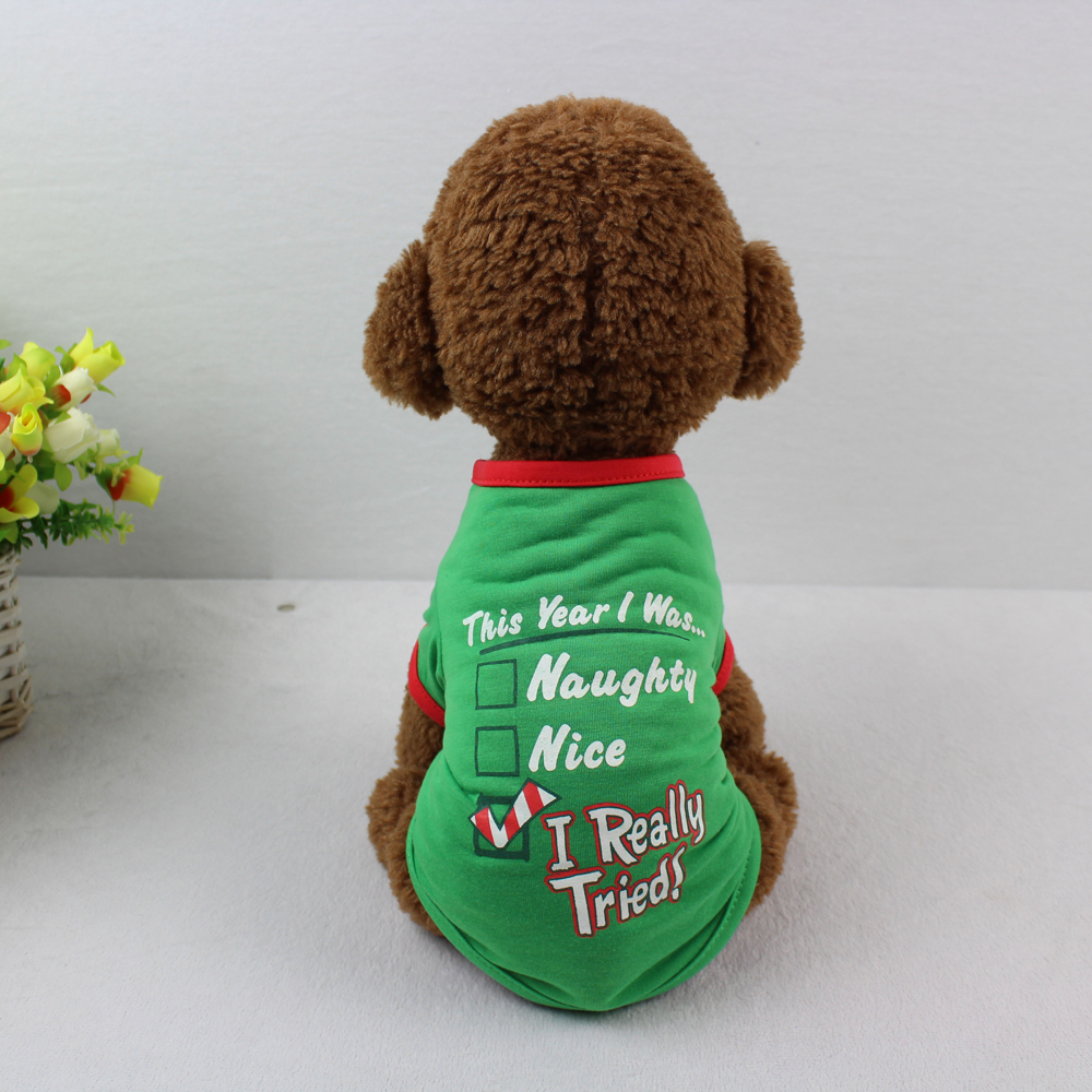 New Arrival Small Puppy Dog Summer Vest Green Polyester Pet Apparel