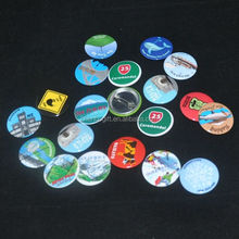 Promotional gifts different design round metal tin button badge with pin