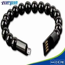 Wholesale Bracelet Micro USB Charging Data Cable for Mobile Phone