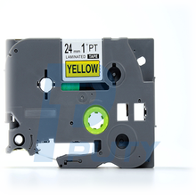 "Compatible p touch TZ651 TZe651 TZ-651 Black on Yellow label Tape(0.94"") 24MM Wide x 26.2ft Length 1 Inch"