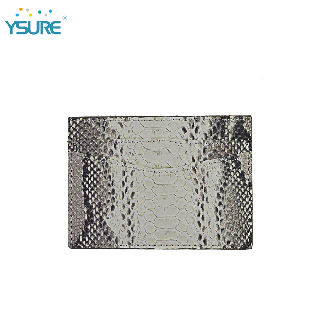 2018 Hot sale Men Genuine snake leather for credit <strong>card</strong>