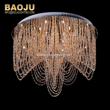 Modern Chandelier Pendant Light Islamic Crystal Hanging Lamp for Home Bedroom Decorating