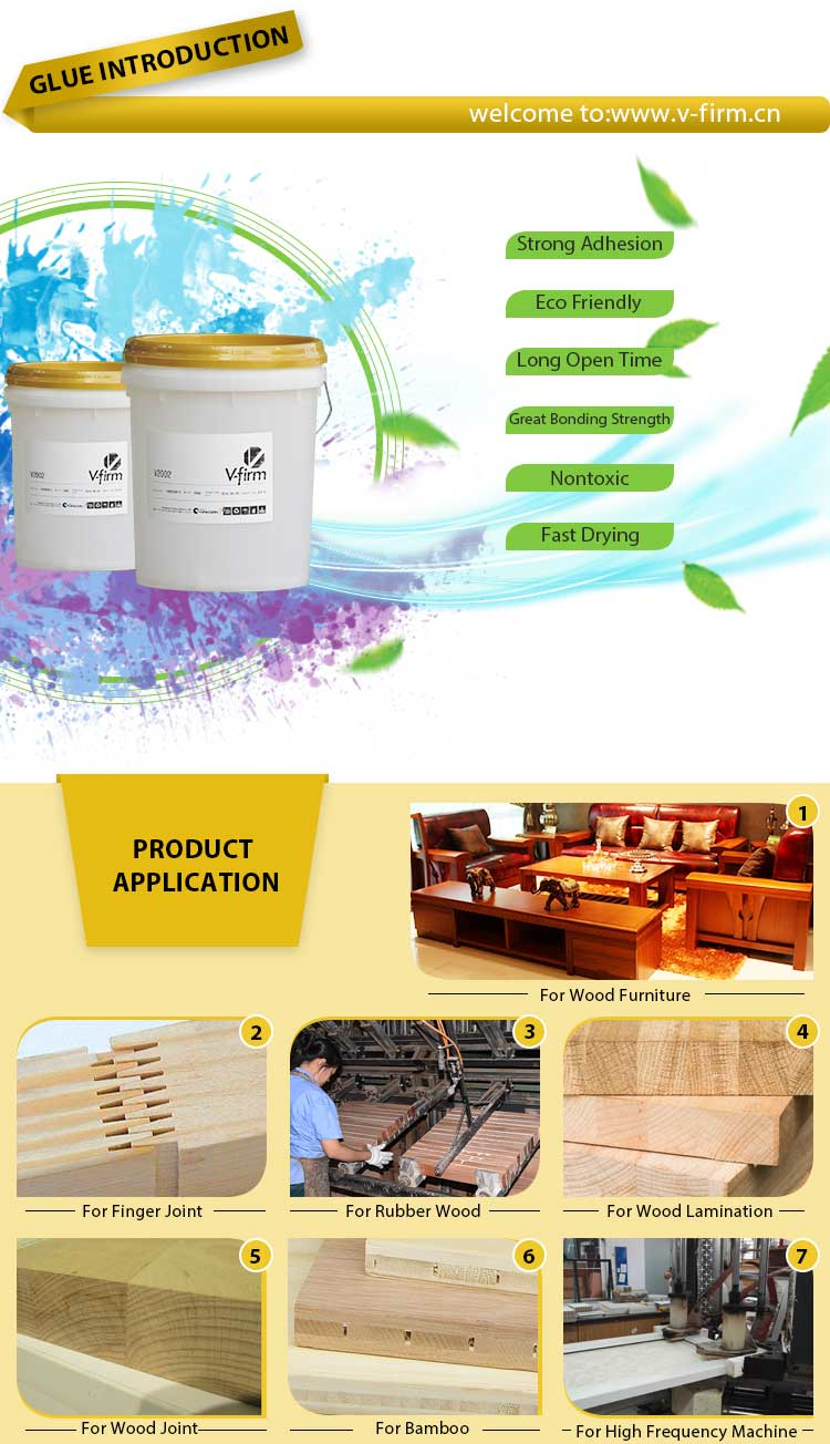 White Liquid Glue Emulsion for Wood Veneering of Furniture