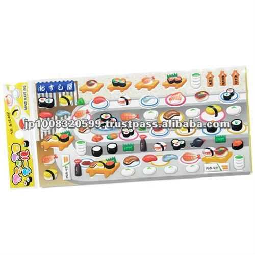 3D sticker Sushi _ sushi products _ paper craft _ party goods _ made in japan products
