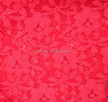 TH-8803 Fashion Pink Nylon Spandex Knitting African Lace Fabric