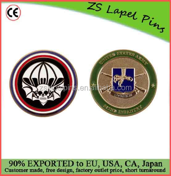 Custom quality challenge coin Ft Campbell 502nd Widow Maker