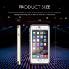 "2016 New Design PC+TPU waterproof/Shockproof with clear back Case Cover for Iphone 6 4.7"" White"