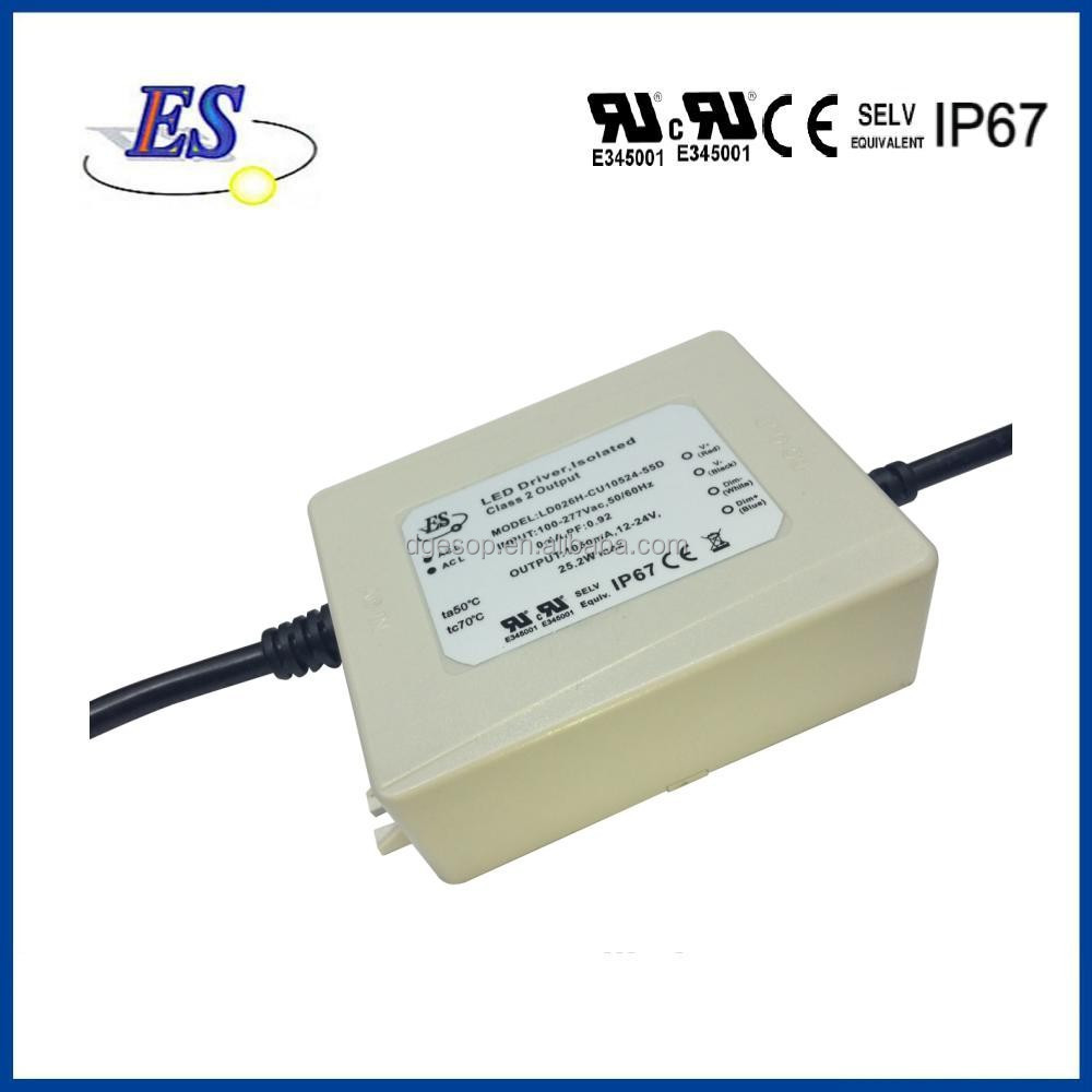 35W AC-DC Constant Current LED Driver with 3 in 1 Dimming