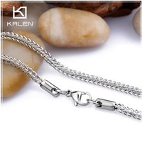 500x3mm Necklace Chain Types Stainless Steel Fine Necklace