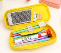 Large papacity fashion pencil case / pencil bag with compartment