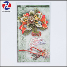 Cheap international custom design merry christmas paper greeting card