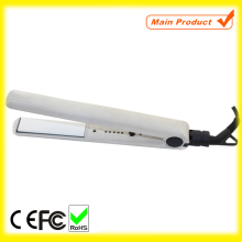 White Ceramic Heater Cold Hair Straightener Flat Iron