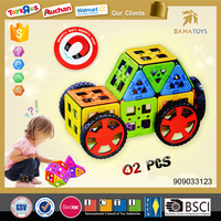 2015 Hot Sale ABS Plastic mag wisdom games puzzle pocoyo building block toys for kids