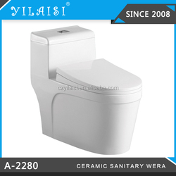 High quality one piece toilet bowl,ceramic siphon vortex toilet A-2280