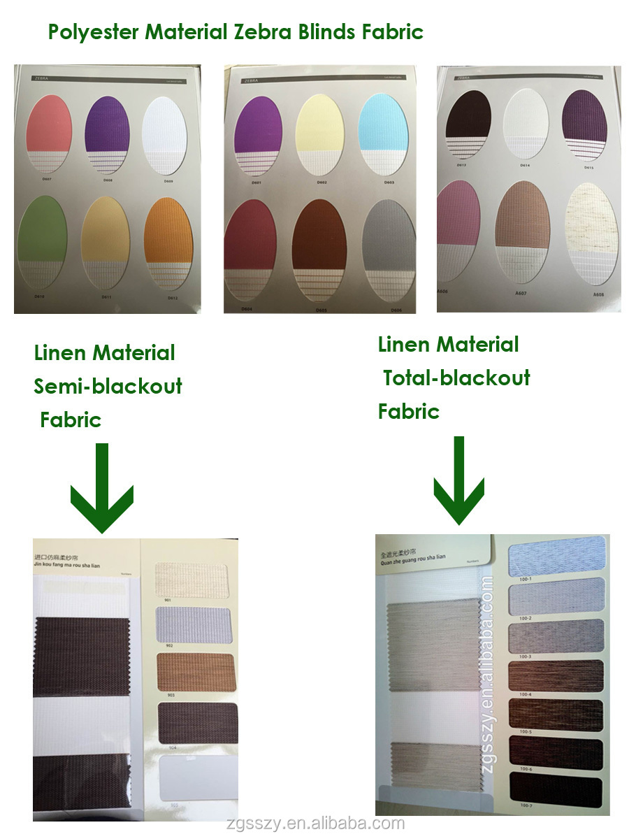 Manual & Motorized zebra roller blinds / Day and night zebra roller blind