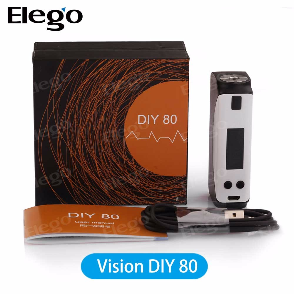 Alibaba Express China Vision DIY 80 Box MOD with 80W VS Joyetech eVic VTwo mini Mod/ eVic VTC Mod vs Nautilus X