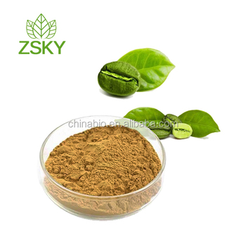 GMP Factory supply Pure Green Coffee Bean Extract Powder