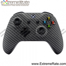 Carbon Fiber Black Front Housing Replacement for XBOX ONE S Wireless Controller