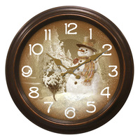 Christmas Snowman Wall Clock Decorations