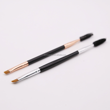 Private Label Makeup Synthetic Hair Eye Brow Duo Brush