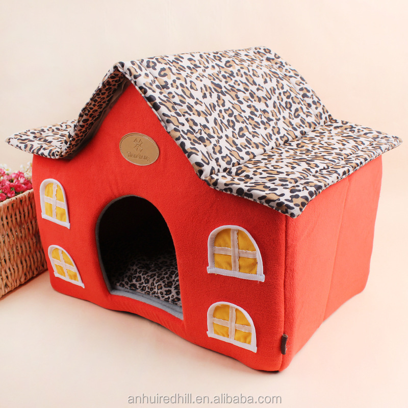 Christmas memory foam indoor soft dog house