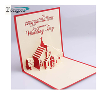 free sample customized print 3d three-dimensional greeting card for wedding
