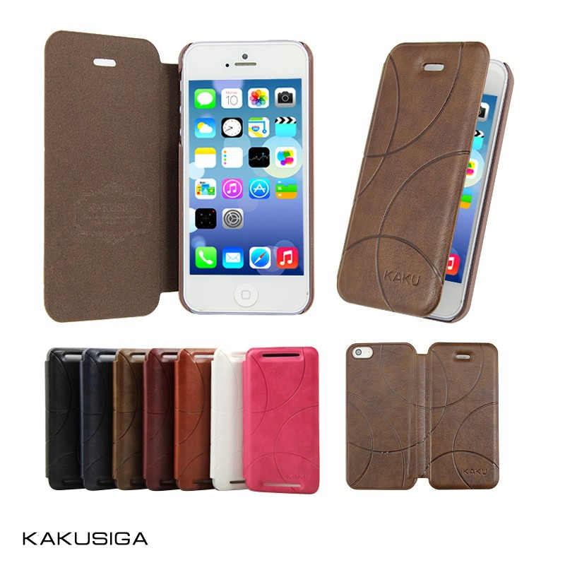 H&H business magnetic flip leather 5.5 inch mobile phone case from China phone case manufacture
