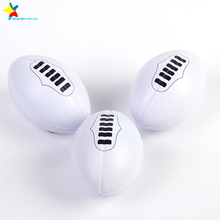 custom promotional gift soft rugby anti pu stress ball