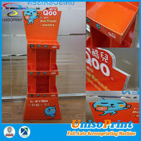 low cost traditional cardboard floor display/ corrugated paper display shelf/ corrugated cardboard POP display stand