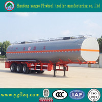 3 Axle Widely Used 40-50CBM Fuel Tanker / Oil Diesel Transport Truck Semi Trailer For Sale