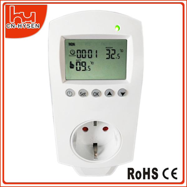 Room Weekly Progrmmable Heating Plug In Thermostat